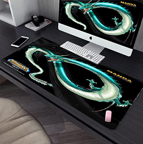 Alfombrillas de ratón Green Dragon Mouse Mat Lock Edge Anime Cool Computer...