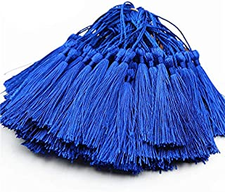 Creanoso Bookmark Tassels Blue (100-Pack)- Anti-Wrinkled Treatment - for Bookmarks, Jewelry Making, Souvenir, Party Favors, Wedding, Gift Tags, Decor, Art and Craft Project