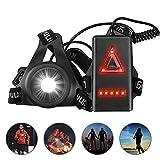 ulocool Sports Lauflicht, LED Lauflampe USB Wiederaufladbare, Wasserdicht Leichtgewichts Lampe zum...