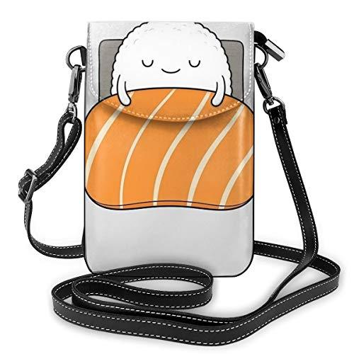 Sleepy Sushi Bed Kleine Handy-Geldbörse Crossbody Handy Schultertasche Smartphone Geldbörse für Frauen Mädchen