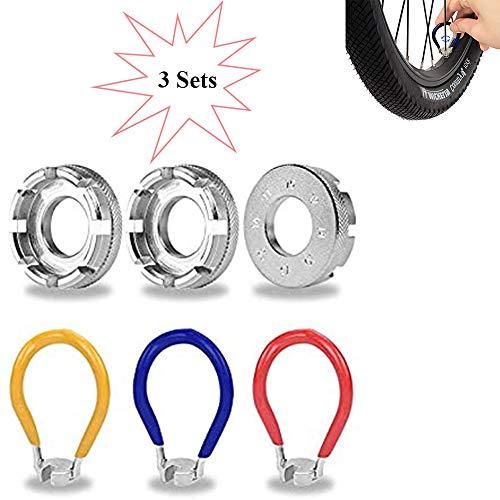 Homefantasy Llave de radios de Bicicleta de 3 Piezas, Mini Llave de Bicicleta de Alta dureza, fácil de Combinar 10-15 g 8 calibres, una Herramienta de reparación de Bricolaje Esencial para Ciclistas