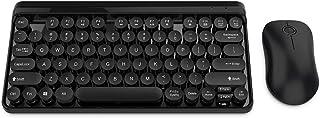 CiCiglow Keyboard Mouse Set, 2.4G Wireless Multimedia Keyboard Mouse Set with USB Receiver Waterproof Keyboard for Windows 98 / Me / 2000 / XP/Vista/Win 7 / Win8 / 10 / Vista/Mac OS .(Black)