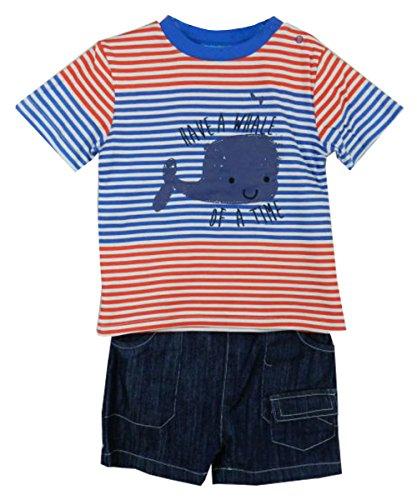 Lily et Jack enfants Whale Applique shirt Mois Set court Age 3-6