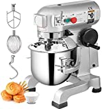 Happybuy Commercial Food Mixer 10Qt 450W 3 Speeds Adjustable 110/178/390 RPM...