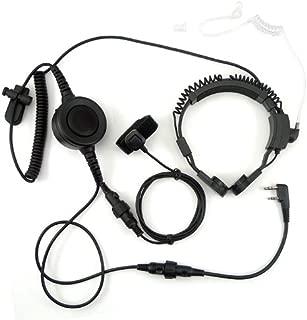 Flexible Throat Mic Microphone Covert Acoustic Tube Earpiece Headset With Finger PTT for 2 PIN Kenwood Baofeng PUXING QUANSHENG WEIERWEI WOUXUN Radio PLUS KG-659 KG-659 Plus KG-679 KG-679 Plus KG-UVD1P etc.