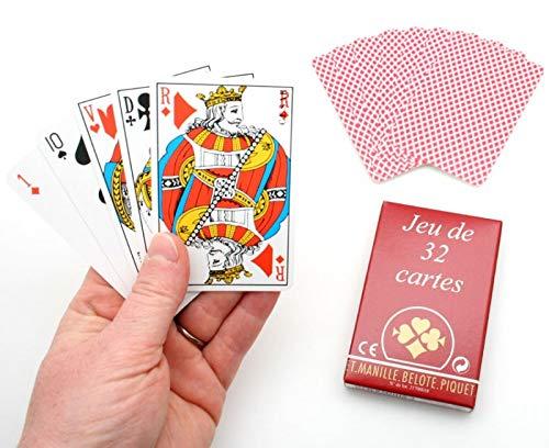 Jeu de Compétition 32 cartes étui carton. Ducale