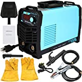 Homegreg MMA 160 Amp Portable IGBT inverter Arc Welder kit, 110/220V with LCD Display Electrode Holder Ground Clamp Adapter Cable Stick Welding Machine
