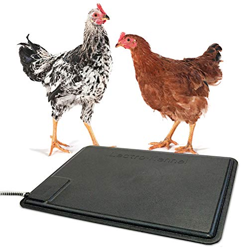 'K&H Pet Products Thermo-Chicken Heated Pad, Black, 12.5 Inches X 18.5 Inches'