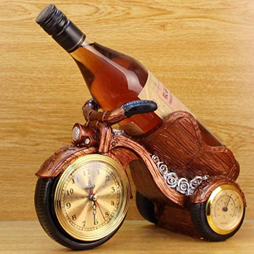 XININ Creativo Retro Resina Motocicleta Estante de Vino artesanías decoración del hogar Adornos Cocina Vino gabinete decoración Moto Vino Titular Regalo