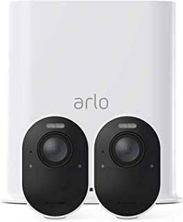 Arlo Technologies Ultra 4K UHD Wire-Free Security 2 Camera System, Colour Night Vision, 180 Degree View, 2-Way Audio (VMS5...
