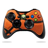 MightySkins Skin Compatible with Microsoft Xbox 360 Controller - Basketball | Protective, Durable, and Unique Vinyl Decal wrap Cover | Easy to Apply, Remove, and Change Styles | Made in The USA