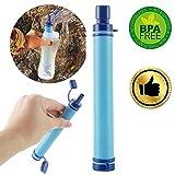 Purewell Minilefiltro de Agua para Camping Reutilizable con Pajita purificadora de Supervivencia 0.01 micr/ón Filtro de Aire Libre Viajes. Senderismo para emergencias