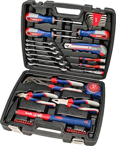 kwb Werkzeug-Koffer inkl. Schrauber-Bits, 42-teilig, gefüllt, robust und hochwertig, ideal für den Haushalt o. die Garage, GS geprüft, im praktischen Kunststoffkoffer