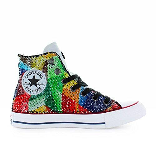 Converse Damenschuhe All Star Ltd Ed Chuck Taylor Sneaker Multicolor mit Pailletten Frühling-Sommer 2018