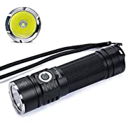 Sofirn SP33 LED Torch 1080 Lumens CREE LED Light Tactical Flahlight IP68 Waterproof Mini Memory Torch For Outdoors Camping Emergency 6 light Modes Including 18650 Rechargeable Battery and USB Charger