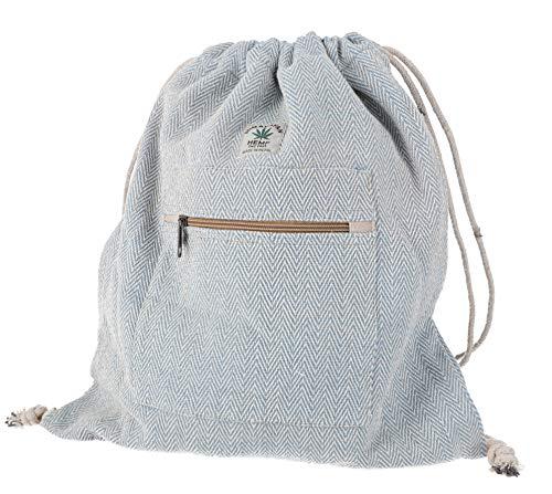 Imagen del productoGURU SHOP Mochila de Cáñamo con Diseño de Espiga, Bolsa de Gimnasio, Bolsa de Deporte - Azul, Unisex - Adultos, Tama?o:One Size, 40x35 cm, Mochilas y Bolsas de Deporte