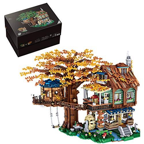 Bybo Juego de 4761 piezas de construcción de bloques de construcción compatible con casa de árbol de Lego.