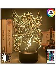 HOKVJ Kimetsu No Yaiba 3d LED nattlampa anime demon slacker lampa för sovrum dekor ljus barn barn födelsedagspresent Agatsuma Zenitsu ljus