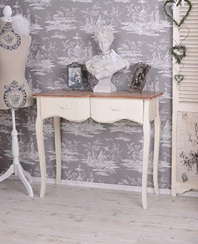 Konsole, Konsolentisch, Schreibtisch, Tisch, Wandkonsole im angesagten Shabby-Chic-Stil in vespielter Optik aus Holz gefertigt - Palazzo Exclusive