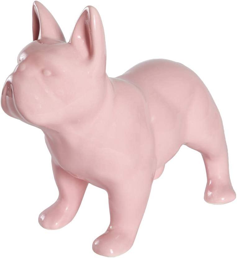 Nayothecorgi Ceramic 着後レビューで 送料無料 低価格化 Dog Statue - Standing Bulldog French Shiny