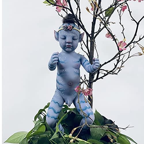 chisatowww Muñecas Reborn, bebé Real Life Reborn Baby Soft Cuerpo Completo Vinilo Avatar Niños 30 / 55cm Reborn Baby Boy Doll Regalo de cumpleaños Juguetes