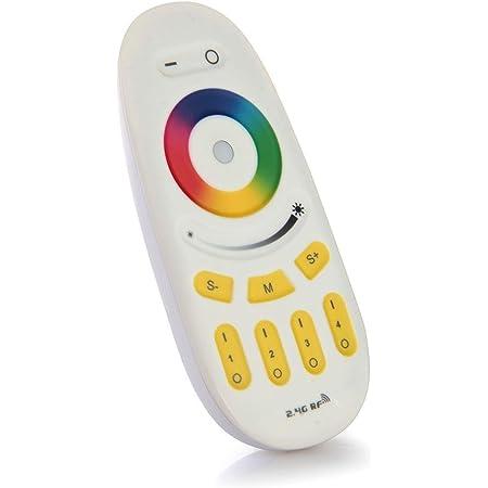 LIGHTEU®, télécommande d'origine Milight Miboxer couleur 4 zones RGBW dimmable 2,4 GHz RF, fut096