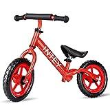 INTEY Draisienne Draisienne Vélo pour Enfant, 12 Pouces sans Pédale pour Enfants Agés de 2 à 7 Ans (85-110cm), en Alliage d'Aluminium, Hauteur Réglable, Structure Anti-Vibrations