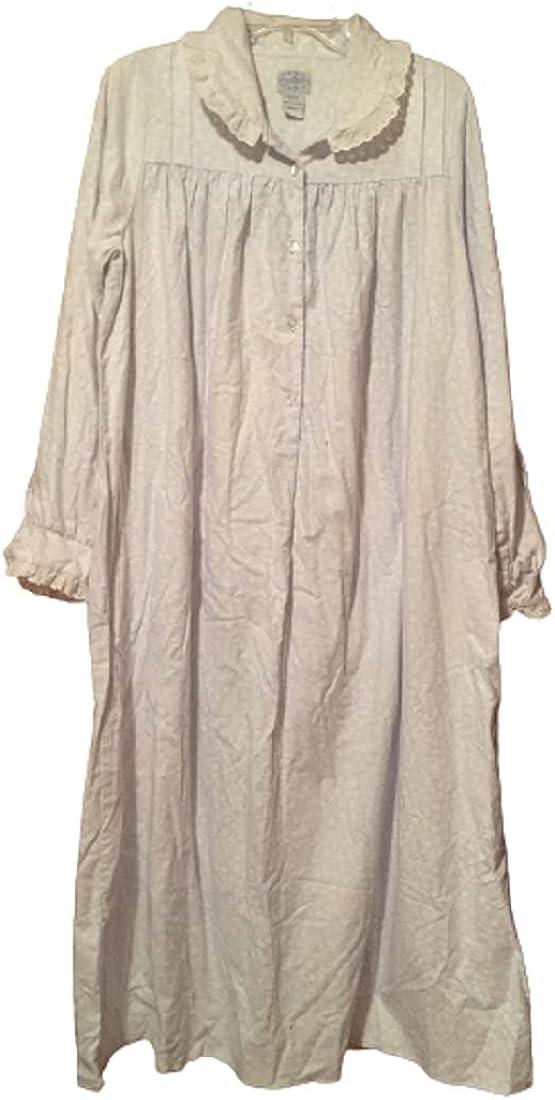 Lanz of Salzburg Women Small 100% Blue Cotton Inch 50 Spring Financial sales sale new work Ni Flannel