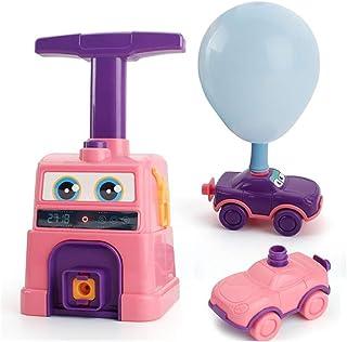 Playmate Balloon Powered Car Inertial Power Car Creative Inflatable Balloon Pump Air Powred Car Scientific Experiment Toy...