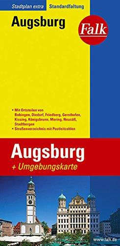 Falk Stadtplan Extra Standardfaltung Augsburg