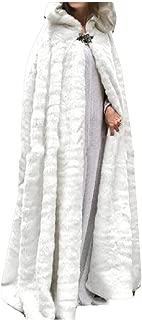 Womens Fuzzy Fleece Hooded Cape Cloak Halloween Warm Winter Cardigan Outwear