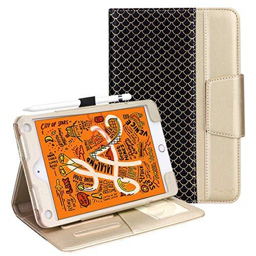 iPadMini5Case,TopliveStandFolioCaseCoverforiPadMini5thGeneration2019/iPadMini42015withAutoSleepWakeFunctionandMultipleViewingAngles,Gold.
