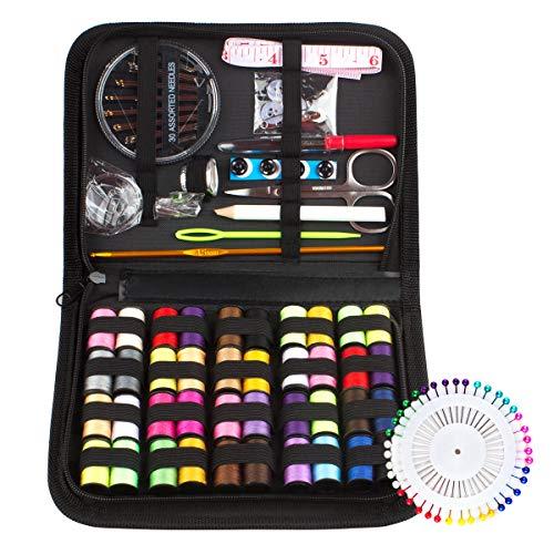 Kit de Costura con 128 piezas Accesorios de Costura y Bolsa de Transporte Set de Costura Portátil Basico Kit Coser Profesional para Sastre,Familia,Principiante,Hogar,Viajes