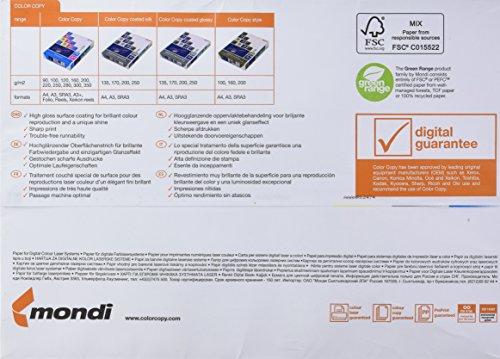 Color Copy Glossy 937244 - Paquete de 125 hojas para impresión láser, 250 g / m² A33