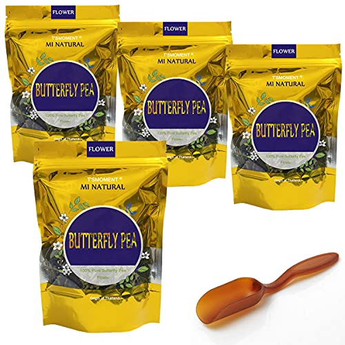 Butterfly Pea Flower Tea 50g(1.76 Oz.), Thai Organic Butterfly Pea Tea NO-GMO 100% Pure and Premium Dried Flower Blue & Purple Tea for Drinks, Food Coloring