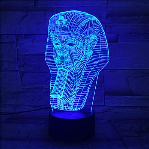 3D ilusión lámpara Luz de Noche Pila luz nocturna remoto para sala de estar, bar, regalo juguetes para niños y niñas Con interfaz USB, cambio de color colorido