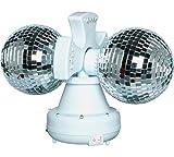 Twin Rotating Double Disco Ball Lamp