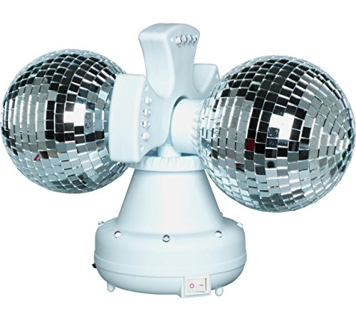 Twin roterende dubbele disco bal lamp