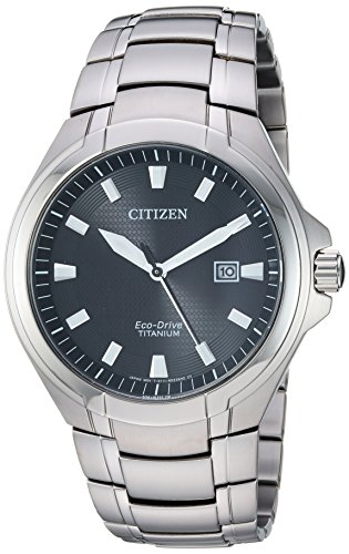 Citizen Men's Eco-Drive Quartz Titanium Strap, Silver, 25.5 Casual Watch (Model: BM7431-51E)