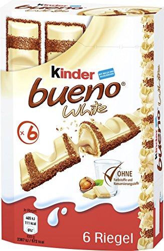 Kinder Bueno white, 6 Riegel, die Vorratspackung, 27er Pack (27 x 117 g)