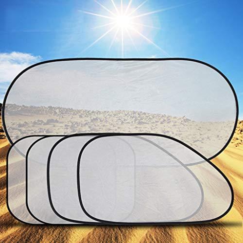 Isolatie zonnepaneel, zonneklep, zonwering, anti-uv-zilver, net voor en achter Windows verkrijgbaar, eenvoudig te hanteren, 5 stuks