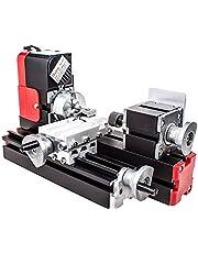 Mini torno lijadora motorizada para la metalurgia, utensilios de bricolaje, procesamiento de madera para la pedagogía de las ciencias, hobby, modelismo