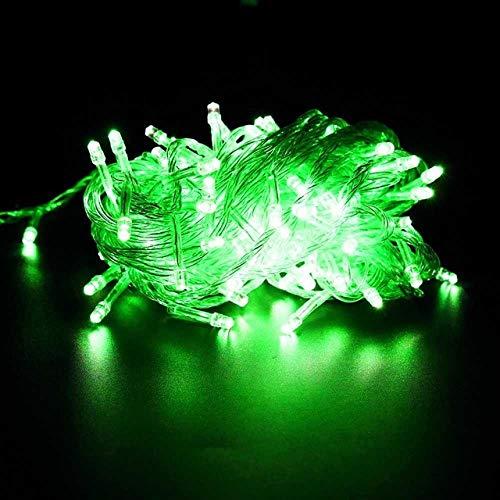 GFSDDS kerstverlichting vakantie krans lichtketting voor feestjes slaapkamer Kerstmis bruiloft sprookjes mini lampjes, groen, 220V