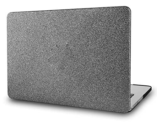 KECC Hülle für MacBook Pro 15 (2019/2018/2017/2016, Touch Bar) Schutzhülle Hülle Cover MacBook Pro 15.4 {A1990/A1707} (Prickelnd Grau)