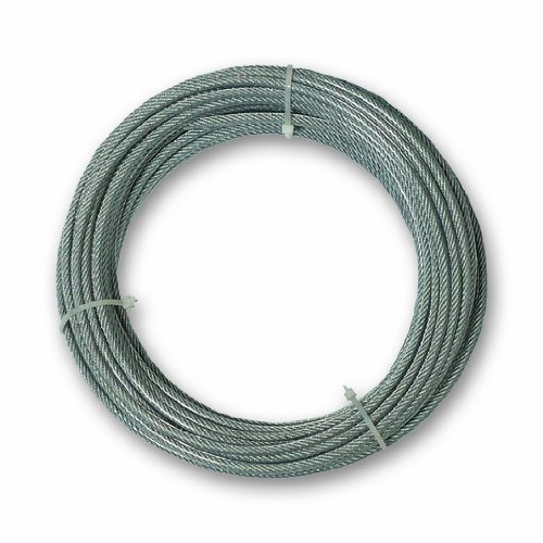 Chapuis CCG620 Cavo guaina in PVC - Acciaio galvanizzato - 159 Kg - Diametro 4/6 mm - Lunghezza 20 m