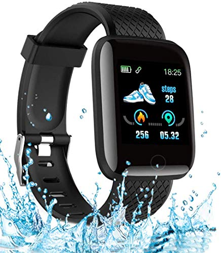 Smart Watch 2020 New Model, Men's and Women's Fitness Tracker, Blood Pressure Monitor, Blood oximeter, Heart Rate Monitor, Waterproof Smart Watch, Compatible with iPhone/Samsung/Android Phones