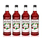 Monin - Raspberry Syrup, Sweet and Tart, Great for Cocktails and Lemonades, Gluten-Free, Vegan,...
