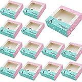 20 Piezas Caja Para Tarta,Cajas de Cupcakes, También Se Aplica a Dulces, Chocolate, Galletas, Bizcochos y Otros Pequeños Obsequios