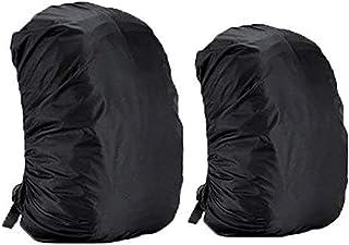 Dricar 2 * Fundas Cubiertas de mochila Protector de Lluvia Impermeable, Cubierta Impermeable para Mochila 35L y 45L - Negro