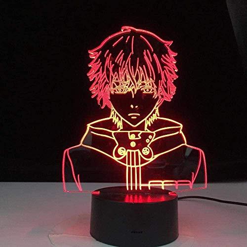 Anime 3D Illusion LED Nachtlicht Tischlampe Stimmungslampe für Schlafzimmer Dekoration Geschenk für Kinder